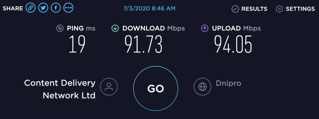SpeedTest CLI - Проверка скорости интернета в командной строке
